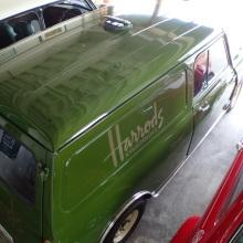 ハロッズバン、5ナンバー、1300cc、クーラー、フロントディスク仕上げ中